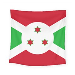Flag Of Burundi Square Tapestry (small)