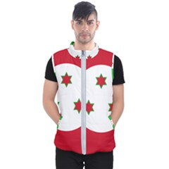 Flag Of Burundi Men s Puffer Vest