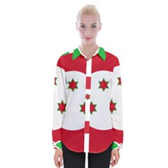 Flag Of Burundi Womens Long Sleeve Shirt
