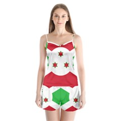 Flag Of Burundi Satin Pajamas Set