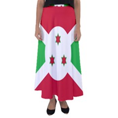 Flag Of Burundi Flared Maxi Skirt
