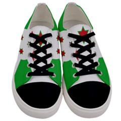 Flag Of Burundi Men s Low Top Canvas Sneakers