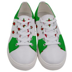 Flag Of Burundi Women s Low Top Canvas Sneakers