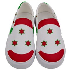 Flag Of Burundi Men s Canvas Slip Ons