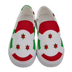 Flag Of Burundi Women s Canvas Slip Ons