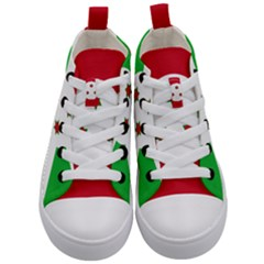 Flag Of Burundi Kid s Mid Top Canvas Sneakers