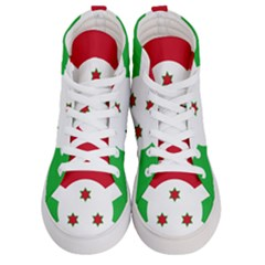 Flag Of Burundi Men s Hi Top Skate Sneakers