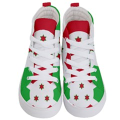 Flag Of Burundi Kid s Hi Top Skate Sneakers