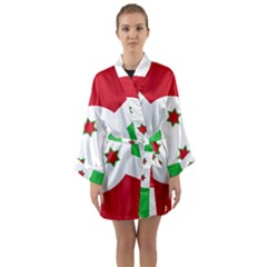 Flag Of Burundi Long Sleeve Kimono Robe