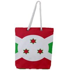 Flag Of Burundi Full Print Rope Handle Tote (large)