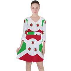 Flag Of Burundi Ruffle Dress