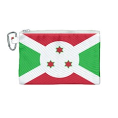 Flag Of Burundi Canvas Cosmetic Bag (medium)