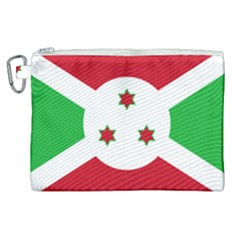 Flag Of Burundi Canvas Cosmetic Bag (xl)
