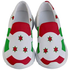 Flag Of Burundi Kid s Lightweight Slip Ons