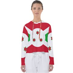 Flag Of Burundi Women s Slouchy Sweat