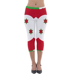 Flag Of Burundi Lightweight Velour Capri Leggings