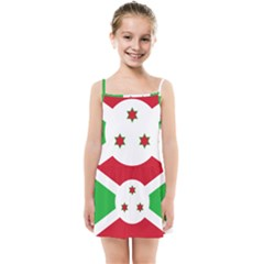 Flag Of Burundi Kids Summer Sun Dress