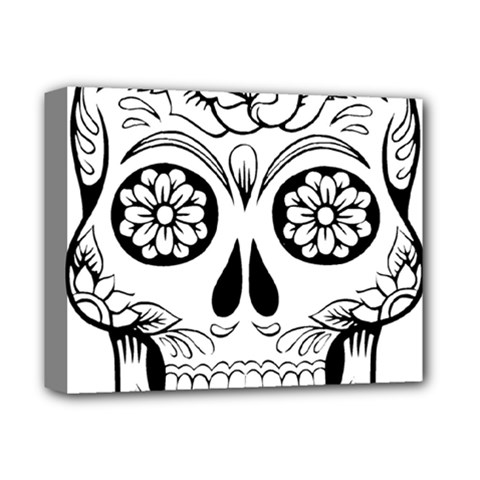 Sugar Skull Deluxe Canvas 14  X 11