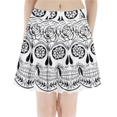 Sugar Skull Pleated Mini Skirt
