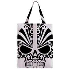 Tribal Sugar Skull Zipper Classic Tote Bag