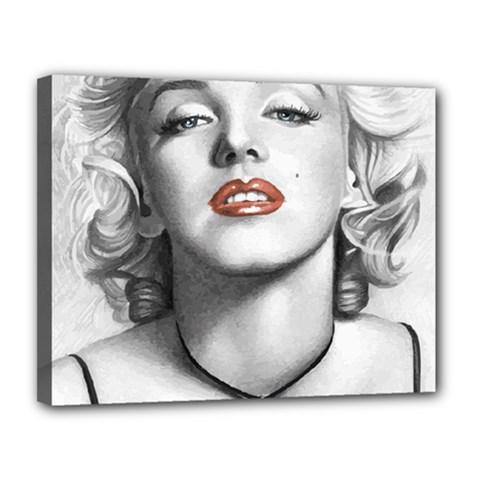 Blonde Bombshell Canvas 14  X 11