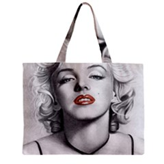Blonde Bombshell Zipper Mini Tote Bag