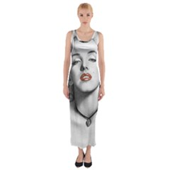 Blonde Bombshell Fitted Maxi Dress