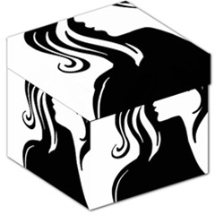 Long Haired Sexy Woman  Storage Stool 12