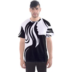 Long Haired Sexy Woman  Men s Sports Mesh Tee