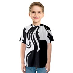 Long Haired Sexy Woman  Kids  Sport Mesh Tee