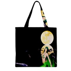 Sexy Mermaid In The Moonlight Zipper Grocery Tote Bag