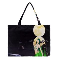 Sexy Mermaid In The Moonlight Medium Tote Bag