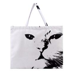 Cat Zipper Large Tote Bag