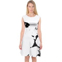Cat Capsleeve Midi Dress