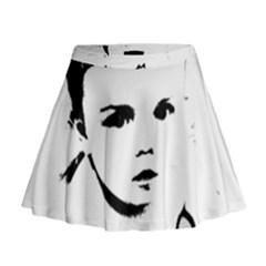 Cupid s Heart Mini Flare Skirt