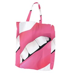 Smile Giant Grocery Zipper Tote