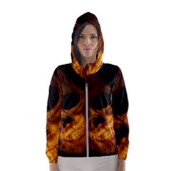 Skull Hooded Wind Breaker (women)