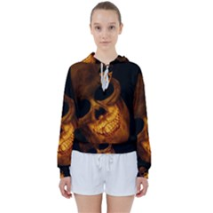 Skull Women s Tie Up Sweat