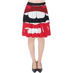 Sexy Mouth  Velvet High Waist Skirt by sherylchapmanphotography