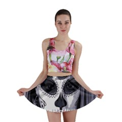 Sugar Skull Mini Skirt