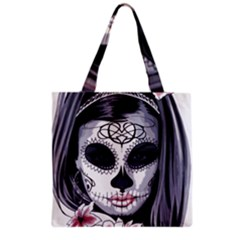 Sugar Skull Grocery Tote Bag