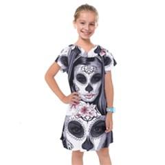 Sugar Skull Kids  Drop Waist Dress