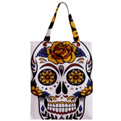 Sugar Skull Zipper Classic Tote Bag