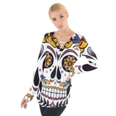 Sugar Skull Tie Up Tee