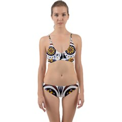 Sugar Skull Wrap Around Bikini Set