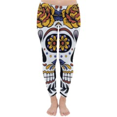 Sugar Skull Classic Winter Leggings