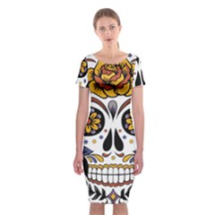 Sugar Skull Classic Short Sleeve Midi Dress by sherylchapmanphotography