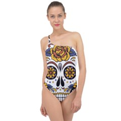 Sugar Skull Classic One Shoulder Swimsuit