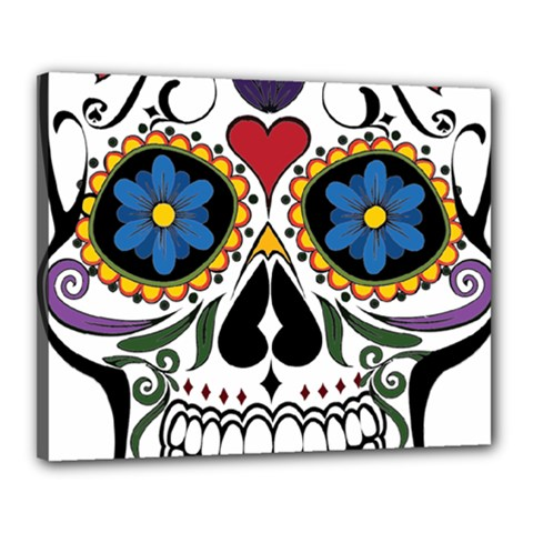 Cranium Sugar Skull Canvas 20  X 16