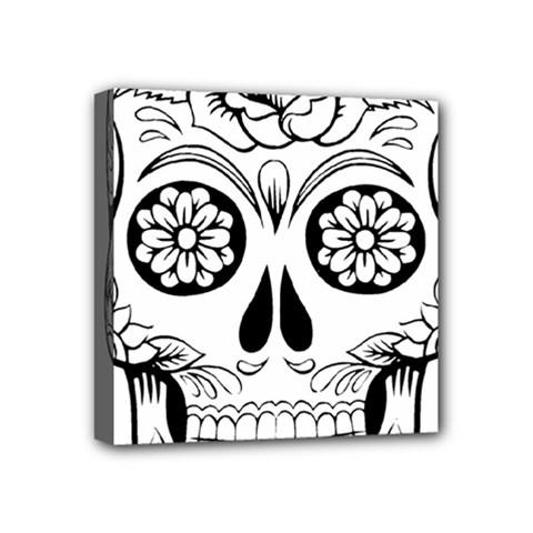 Sugar Skull Mini Canvas 4  X 4